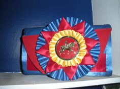 Horse show ribbon clutch purse!