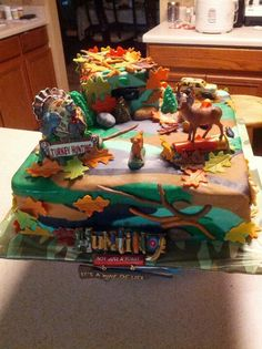 camouflage party | Camouflage Hunting Cake | Hunting party