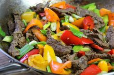 Beef stir fry done the Caribbean way - gluten free as well. Click for the full recipe including a video tutorial.