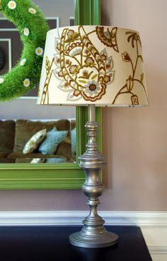 spray paint old brass lamp (brass be-gone)