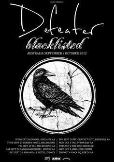Defeater / Blacklisted Australian tour - Details at http://www.bombshellzine.com/blog/2012/06/defeater-blacklisted-announce-australian-tour-dates/