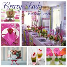 Crazy Lady Birthday Lunch (small) - Ooo...so bright and colorful.  I want to either attend or throw this birthday lunch!