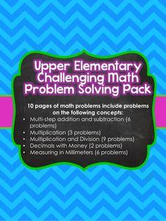 Upper Elementary Math Challenges $