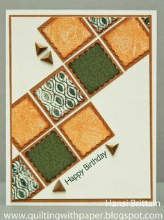 Quilting With Paper: Color My Heart in Goldrush, Ponderosa Pine and New England Ivy