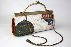 Clutch Purse  Hot Air Balloon Clutch Bag w/ Card by CottonTimes, $69.90