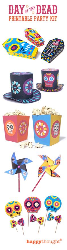 Day of the Dead printable party kit http://printablepaperproducts.com/printable-crafts/day-of-the-dead-printables