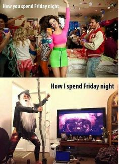 Let's compare Friday nights...