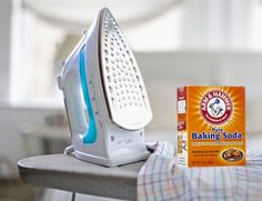 how to clean flat iron with baking soda