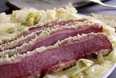 It doesn't HAVE to be St. Paddy's Day, you know...Horseradish and Mustard Crusted Corned Beef and Cabbage Anolon.com