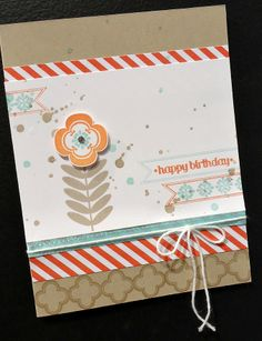 Cute birthday card with Madison Avenue Stamp Set - Stampin' Up!