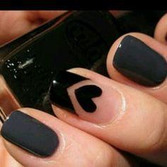 black Nail Art Photos 2014    See more nail designs at http://www.nailsss.com/french-nails/2/