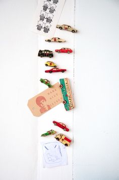 Use old kids wooden puzzle pieces as magnets