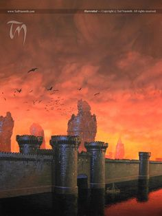 games, song, harrenh, fantasi, art, dragon, castles, fire, game of thrones