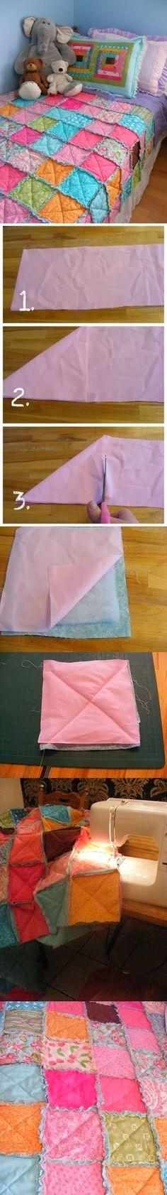 DIY Blanket Patchwork