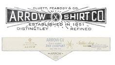 Arrow and Cluett Labels and Packaging | Abduzeedo Design Inspiration