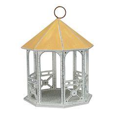 Bandstand Birdhouse birdhouses, green thumb, bandstand birdhous, white, gardens, yellow bandstand, homes, diy, bird hous