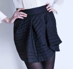Michel Klein Black Short skirt #luxury #modewalk skirt luxuri, black short, short skirt