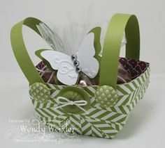 gift baskets, wick wonder, paper craft, tutorials, class projects, papers, wonder creation, basket tutori, easter basket