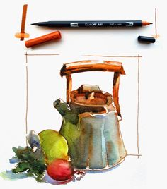 Brenda Swenson: Sketching with Water Based Inks