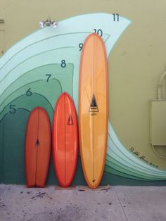 "Orange Sticks / 5.2"" Why / 6.0"" Sausage / 10.0"" Merlin #Harbour Surfboards"