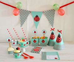 Fiestas infantiles de mariquitas http://mylittleparty.es/blog/fiestas-infantiles-de-mariquitas/