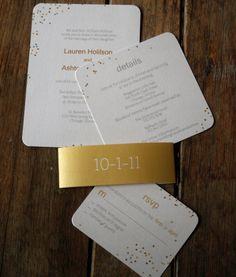 Modern Wedding Invitation: Confetti Wedding Invitations. $4.05, via Etsy.