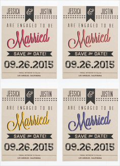 free fun wedding save the date free printable