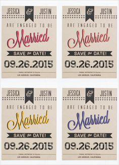 free fun wedding save the date free printable