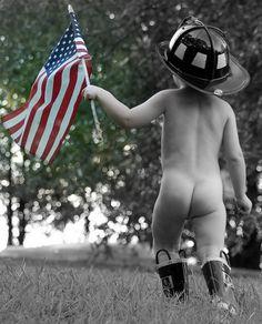 My little Fireman! (When he was a baby)
