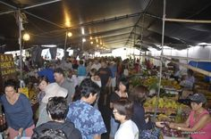 HAWAII ~ BIG ISLAND : The Hilo Farmers Market has anything you want: produce, crafts, gift items, tropical flowers, among some of the things that are there. The market was started in 1988, when farmers sold good from their cars and trucks. Today, they have over 200 vendors.