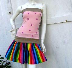 NYAN CAT PopTart Shirt skirt Set S-1X costume MeMe kawaii Cosplay | PoppysWickedGarden - Clothing on ArtFire