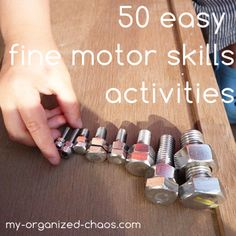 50 easy Fine Motor Skills activities to do at home