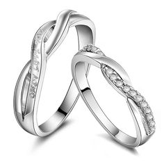 Promise love swiss diamond commitment couple rings - $43
