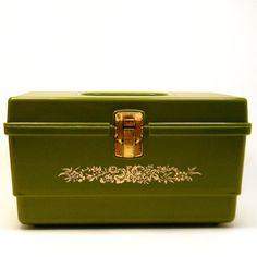 Olive 1960s Sewing Box, $15.50 ... Etsy!