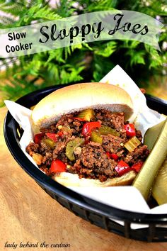 Slow Cooker – Sloppy Joes