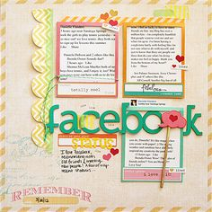Paper facebook layout by Danielle