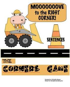 MOOOOOOVE your students with this fun, freebie game of 4 corners.  Skill-Types of sentences (Declarative, Imperative, Interrogative, & Exclamatory)