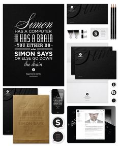 Simon Says - Corporate Identity | Designer: José Simon - http://simonsays.hu