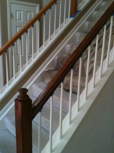 Gel Stain - Stair Rail #gelstain #touchupsolutions http://touchupsolutions.com/gel-stain  http://gel-stain.com