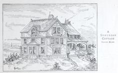 Suburban Cottage house plan from 1884 Leffel's House Plan book.