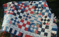 Island Life Quilts blog.   Pattern: tag a long  schnibble by Carrie Nelson
