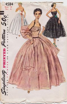 1950s Vintage Simplicity Sewing Pattern 4584 Womens by CloesCloset, $70.00
