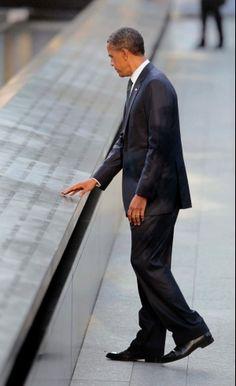President Obama at the 9-11 Memorial