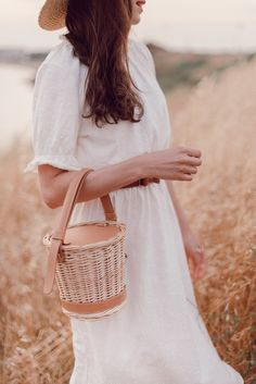 #goldenhour #Magichour #strawbag #wickerbag #basket