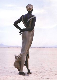 Alek Wek by Herb Ritts for Vogue Paris, April 1999