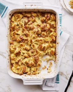 This savoury bread pudding can be used for entertaining, but it's also a great lunch for kids since it has all the flavours of a ham and cheese sandwich and tucks nicely in a thermos.