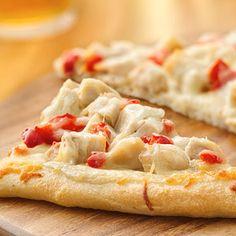 Easy Homemade Pizza Recipes dinner, food, alfredo pizza, favorit recip, pizzas, pizza recipes, cooking tips, chicken alfredo, dessert appet