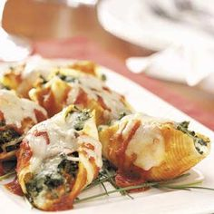 Four-Cheese stuffed shells for two.  I wonder if I could get my boys to eat these?