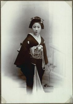 Portrait of Geisha, Kanegawa, Japan, date unknown (by National Museum of Denmark)