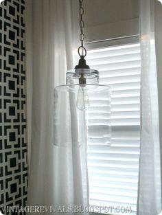 DIY- Glass pendant Light